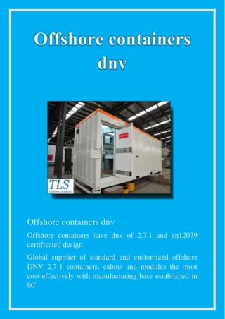 offshore containers dnv