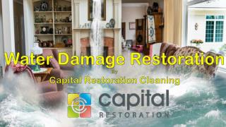 Water Damage Restoration - Capital Restoration Cleaning
