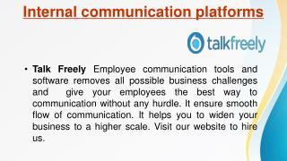 Talk Freely- Internal communication platforms