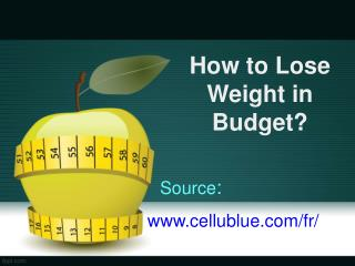 How to Lose Weight in a Budget
