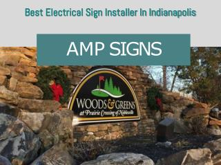 Best Electrical Sign Installer Indianapolis