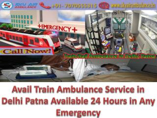 Now Any Emergency shift your patient Train Ambulance Service in Delhi at Low Fare