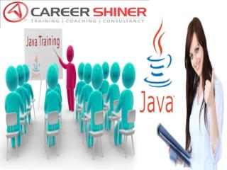 Best training institute for java in noida TO CARRER SHINER