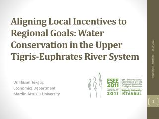 Aligning Local Incentives to Regional Goals: Water Conservation in the Upper Tigris-Euphrates River System