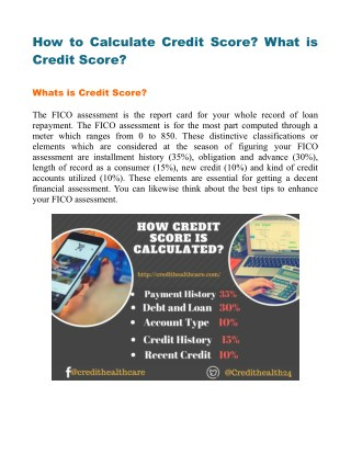 How to Calculate Credit Score?