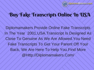 Buy Fake Transcripts Online In USA