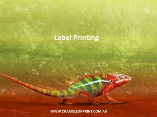 Label Printing - Chameleon Print Group