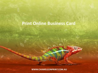 Print Online Business Card - Chameleon Print Group