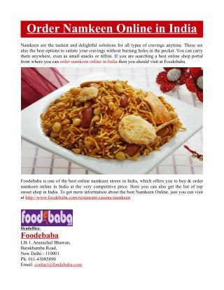 Order Namkeen Online in India