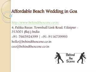 Affordable Beach Wedding in Goa