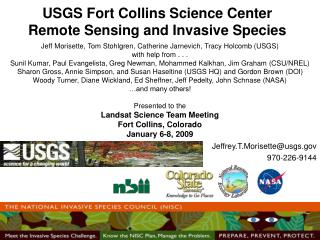 USGS Fort Collins Science Center Remote Sensing and Invasive Species