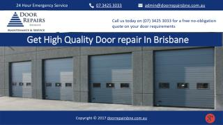 Get High Quality Door repair In Brisbane