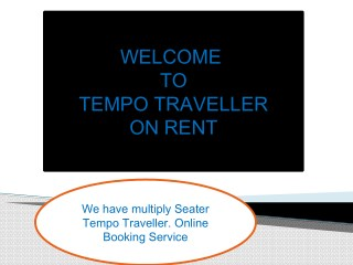 26 Seater Tempo Traveller on rent Delhi