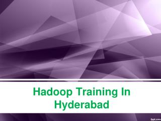 Hadoop Training In Hyderabad, Hadoop Training Institutes in Hyderabad, Hadoop Online Training In Hyderabad – KMRsoft