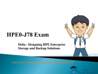 HPE0-J78 Braindumps | Download HP HPE0-J78 Real Exam Questions | RealExamDumps