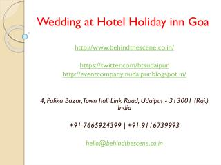 Wedding at Hotel Holiday inn Goa