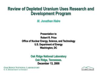 Review of Depleted Uranium Uses Research and Development Program