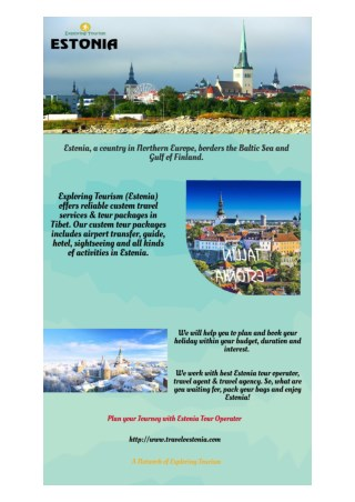Exploring Tourism: Estonia Tour Operator & Estonia Travel Agent