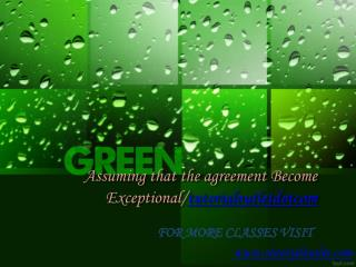 Assuming that the agreement Become Exceptional/tutorialoutletdotcom