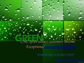 CMC often allows customers Become Exceptional/tutorialoutletdotcom