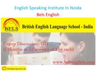 English Speaking Institute In Noida