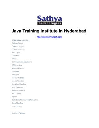 java training in hyderabad,