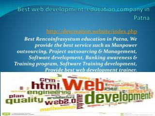 Best webdevelopment  education company in Patna
