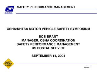 SAFETY PERFORMANCE MANAGEMENT