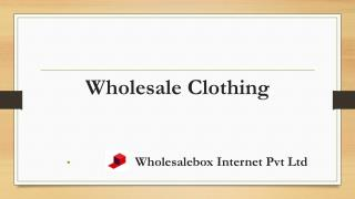 Wholesalebox: Wholesale Womens Clothing and Apparel | Wholesale Boutique