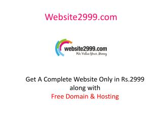 Cheap Website Templates, Responsive Website Template In India | Free Domain Hosting | Cheap Website Design