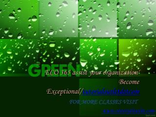 ECO 365 assist your organization' Become Exceptional/tutorialoutletdotcom