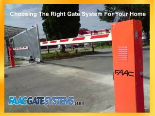 Choosing The Right Gate System For Your Home