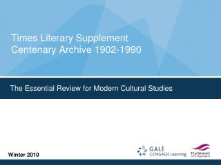 Times Literary Supplement Centenary Archive 1902-1990