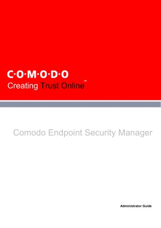 Endpoint Protection (Security) Manager Guide From Comodo