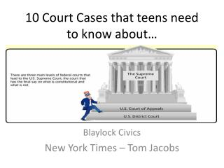10 Court Cases that teens need to know about…