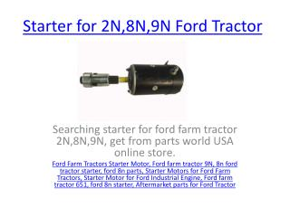 Buy Replacement parts for Ford Tractor