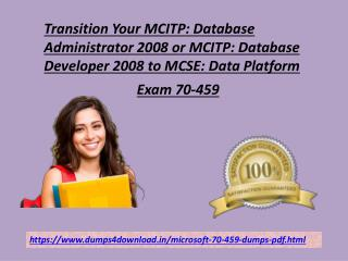Free Exam Microsoft 70-459 Valid Dumps4downlod.in