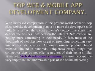 Best Web & Mobile App Development Company in Chicago.