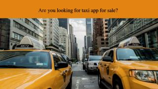 Are you looking for taxi app for sale