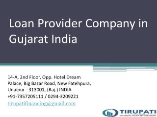 Loan Provider Company in Gujarat India
