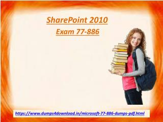 Latest 77-886 Microsoft Exam Dumps Question