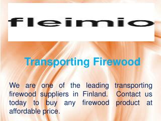 Transporting Firewood