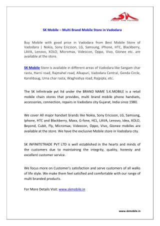 e9f18d10fd94b5 PPT - SK Mobile - MultiBrand Mobile Store in Vadodara PowerPoint ...