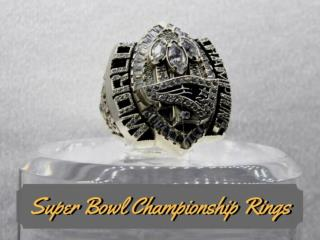 Super Bowl champion rings