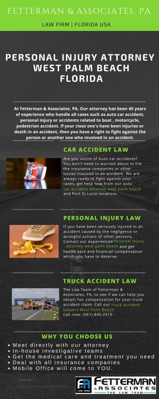 Personal injury & Car accident Attorney West Palm Beach