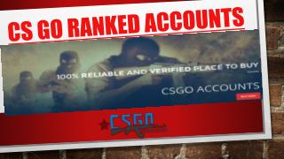 Best selection to Buy CSGO Smurf Ranked Account and Get Advanced Rank