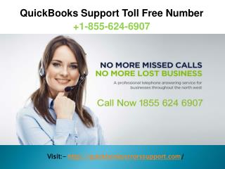 Quickbooks Support Toll Free Phone Number  1-855-624-6907