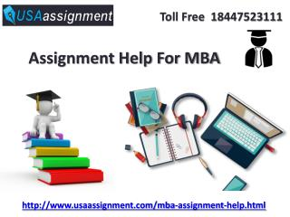 Expert MBA Assignment Help Online in USA