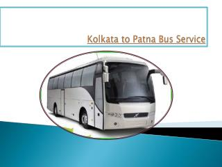 Kolkata to Patna Bus