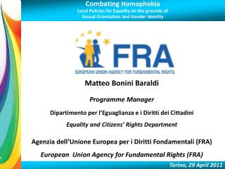 Combating Homophobia Local Policies for Equality on the grounds of  Sexual Orientation and Gender Identity